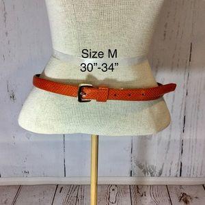 BANANA REPUBLIC Thin Orange Belt Medium